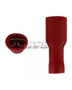 Red Insulated Terminals -  Push-on Females, Fully Insulated - 4.8mm