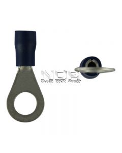 Blue Insulated Terminals - Rings - 6.4mm