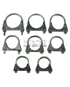 "Assorted Pack of Exhaust Clamps - 1 5/8"" - 2 1/2"""