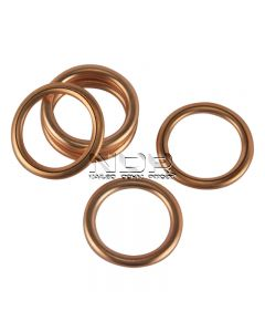 Oval Section Copper Washers - 16 x 20 x 2.0mm - Citroën, Fiat, Peugeot, Renault, Rover