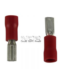 Red Insulated Terminals - Push-on Females - 2.8mm