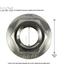 Q_A2 DIN6923 Serrated Flange Nuts
