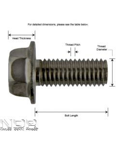 E_M10_A2 Hexagon Head Flange Bolts _ Non-Serrated