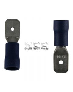 Blue Insulated Terminals - Push-on Males - 6.3mm