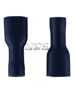 Blue Insulated Terminals - Push-on Females, Fully Insulated - 6.3mm