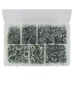 Lock Washers Serrated – 6 Sizes – 1,000 pieces – M5, M6, M8, M10, M11, M13