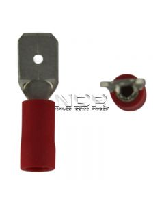 Red Insulated Terminals - Push-on Males - 6.3mm