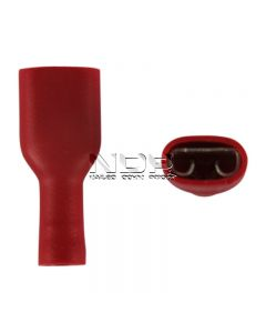 Red Insulated Terminals -  Push-on Females, Fully Insulated - 6.3mm