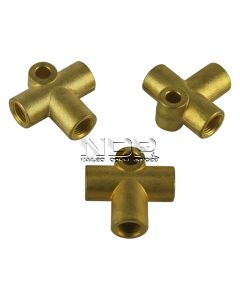 """Brake Tubing Connectors for 3/16"""" Pipe - 3-Way"""