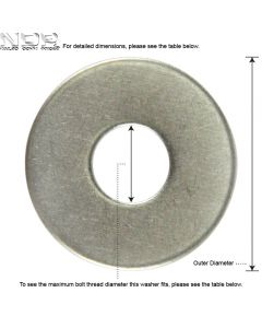 V_M8_A2 Penny / Repair / Mudguard Washers